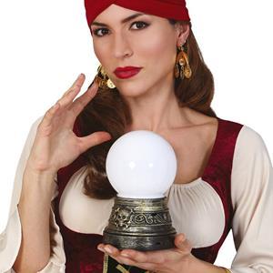 Bola Cristal com Luz, 19 cm