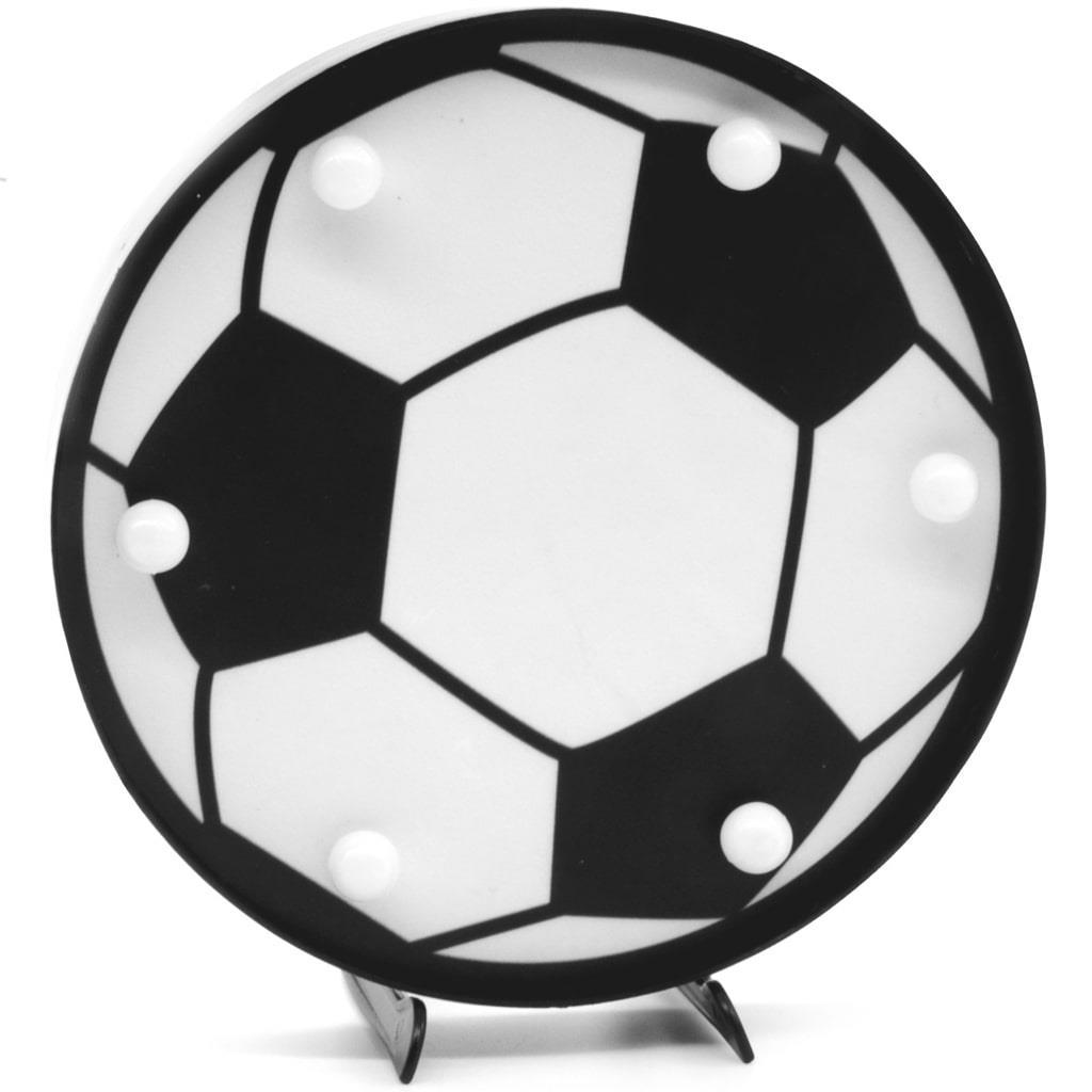 Bola de Futebol Decorativa com Luz, 16 cm