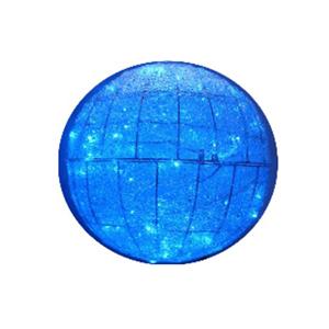 Bola Malha Led Azul Pequena