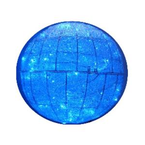 Bola Malha Led Azul Vidro Acrilico