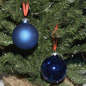 Bolas de Natal Azuis em Vidro, 7,5cm, 16 unid.