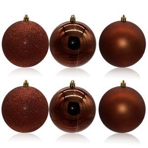 Bolas de Natal Castanhas, 10 cm, 6 unid.