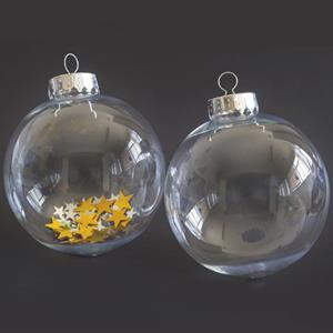 Bolas Transparentes, 8 cm, 2 unid.