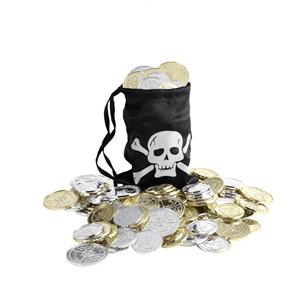 Bolsa Pirata Preta com Moedas