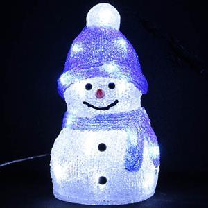 Boneco de Neve Decorativo com Luz, 25 cm
