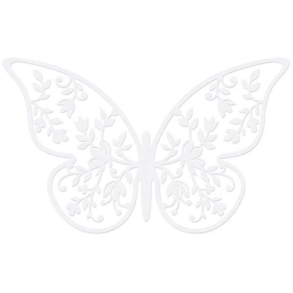 Borboletas Decorativas Brancas, 10 unid.