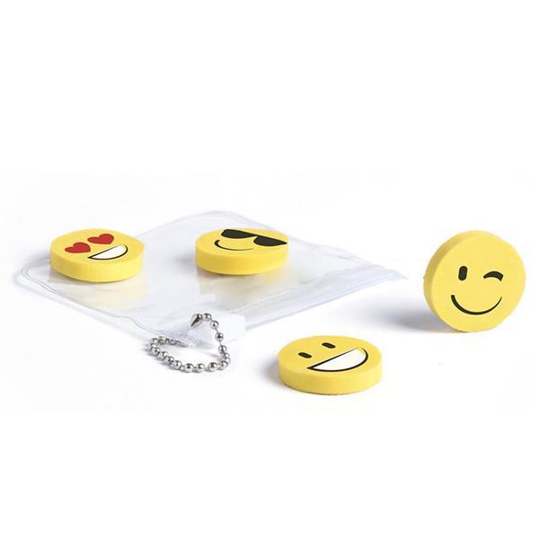 Borrachas Emoji, 4 unid.