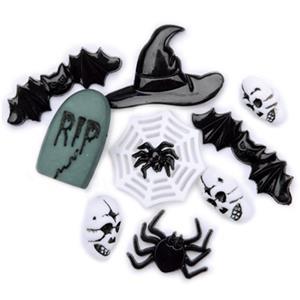 Botões de Halloween, 8 unid.