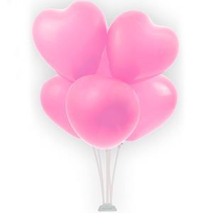 Bouquet de Balões Corações Rosa, 70 cm
