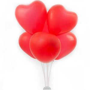 Bouquet de Balões Corações Vermelhos, 70 cm