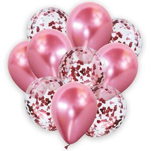 Bouquet de Balões Rosa com Confetis