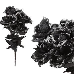 Bouquet Rosas Pretas Brilhantes, 35 cm
