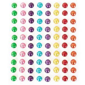 Brilhantes Adesivos Círculos Multicolor, 80 unid.