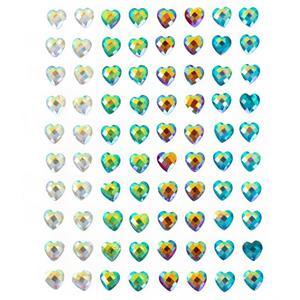 Brilhantes Adesivos Corações Multicolor, 80 unid.