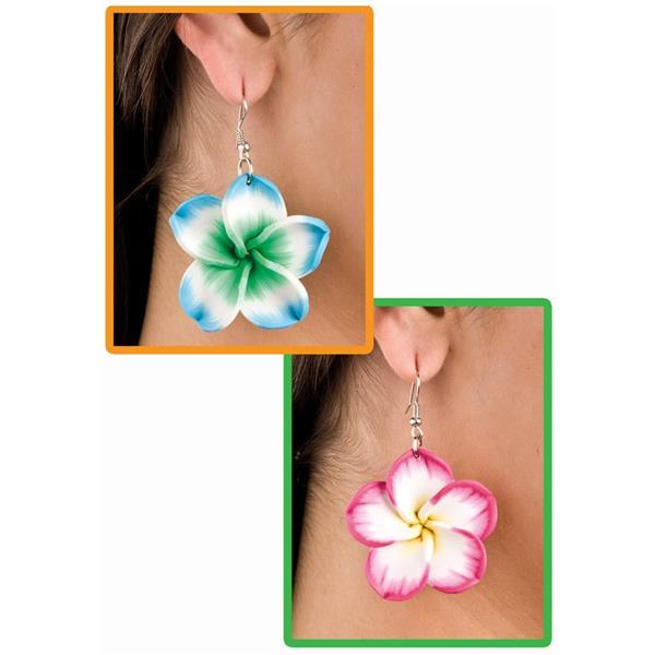 Brincos com Flores Havaianas