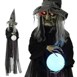 Bruxa com luz e som Halloween