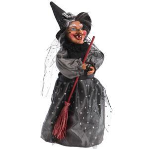 Bruxa Decorativa Vestido Preto