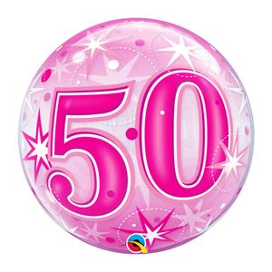 Bubble Estrelas Rosa 50 Anos