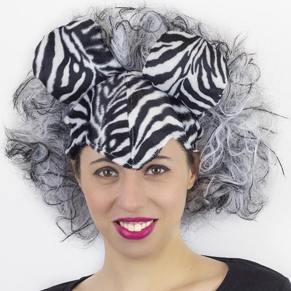Peruca com Orelhas Zebra