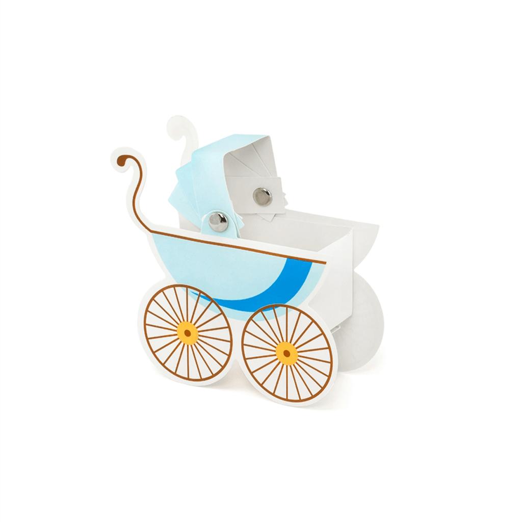 Caixa Brinde Carrinho de Bebé Azul, 10 Unid.