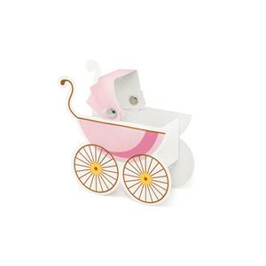 Caixa Brinde Carrinho de Bebé Rosa, 10 Unid.