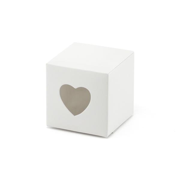 Caixa Brinde Coração Recortado, 10 Unid.