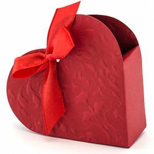 Caixa Brinde Coração Vermelho, 10 unid.