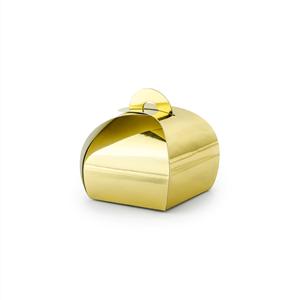 Caixa Brinde Dourada Metalizada, 10 Unid.