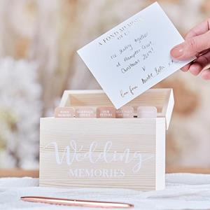 Caixa de Memórias com Cartões Wedding