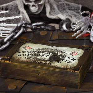 Caixa Ouija Decorativa com Luz e Som, 30 cm
