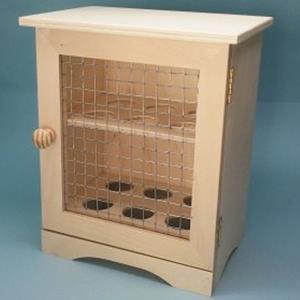 Caixa para Ovos em Madeira com Rede