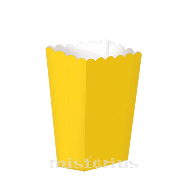 Caixas Pipocas Amarelo, 5 Unid.