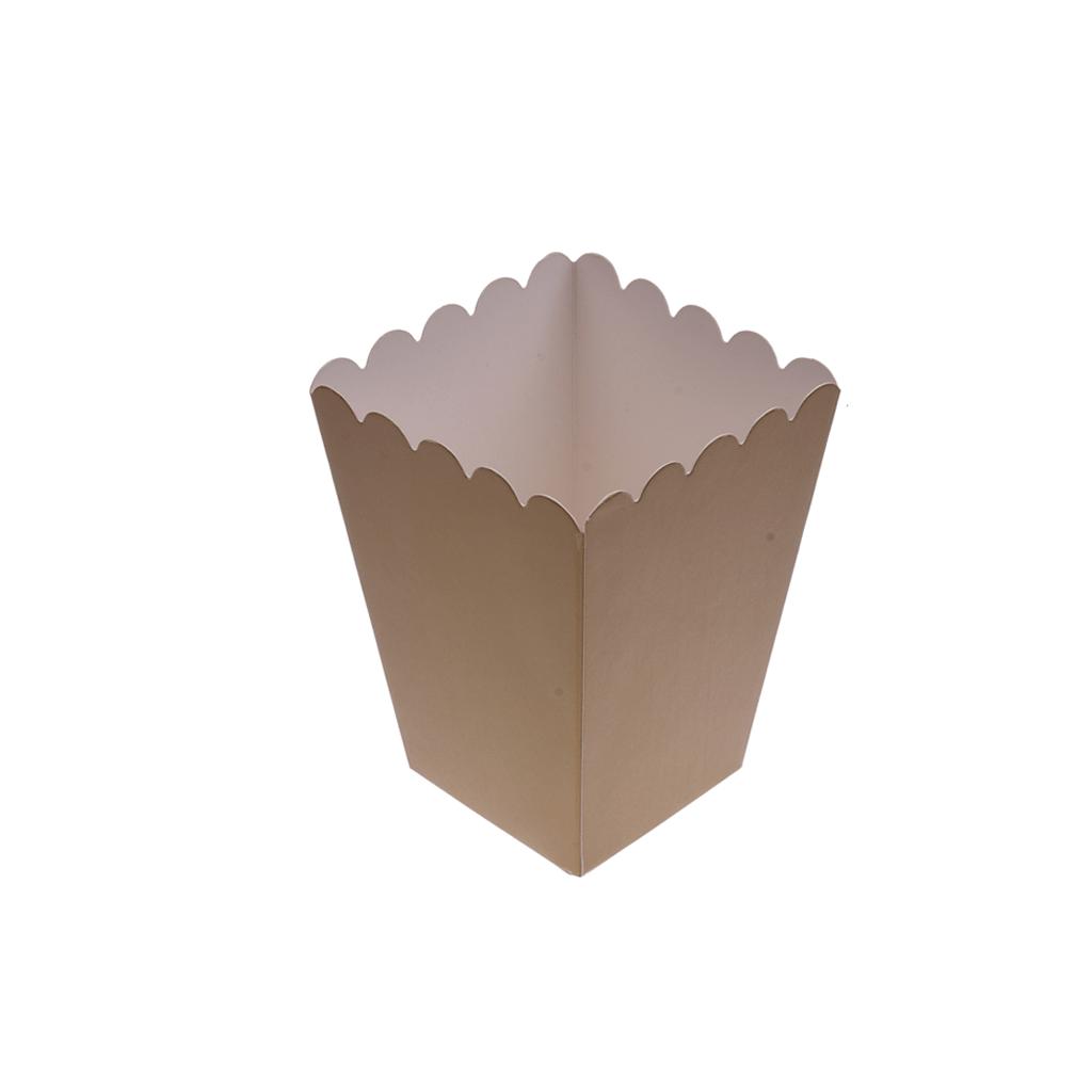 Caixas Pipocas Dourado, 6 Unid.