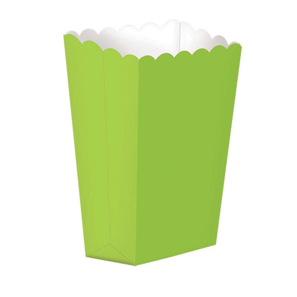 Caixas Pipocas Verde, 5 Unid.