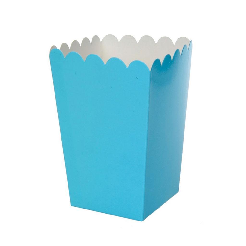 Caixas Pipocas Azul, 6 unid.