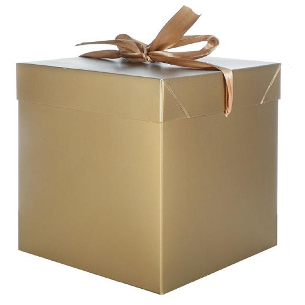 Caixa Presente Dourada, 22 cm