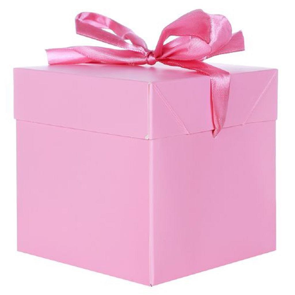 Caixa Presente Rosa, 22 cm