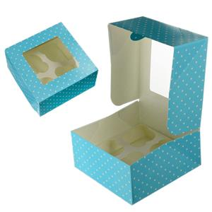 Caixas para Doces Azul às Bolinhas, 2 unid.