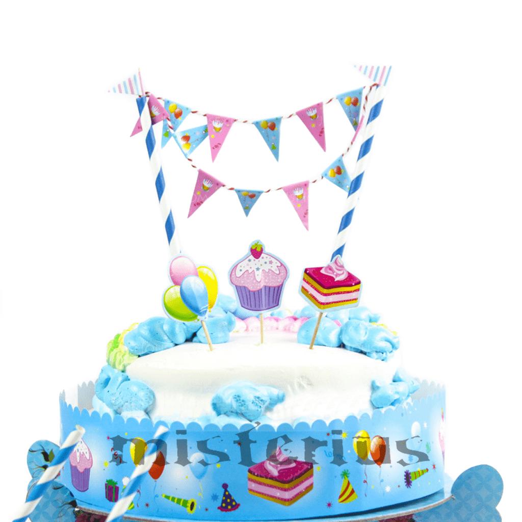 Cake Topper Azul