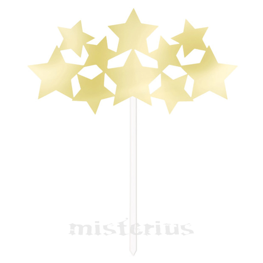 Cake Topper Estrelas Douradas
