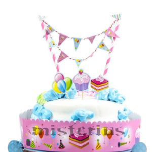Cake Topper Rosa