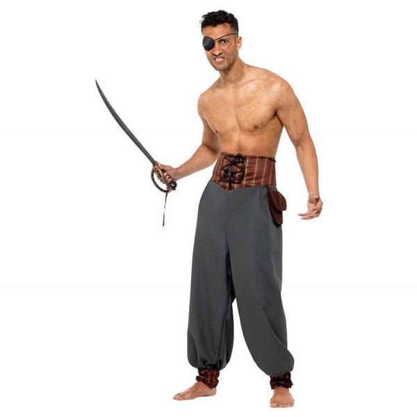 Calças Cinzentas Pirata, Adulto