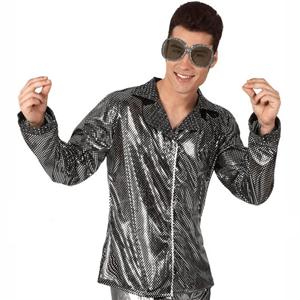 Camisa Disco Prateada