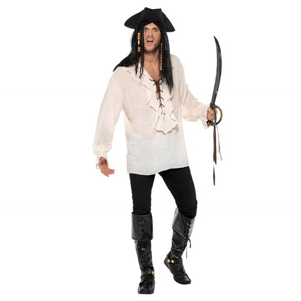 Camisa Marfim Pirata, Adulto