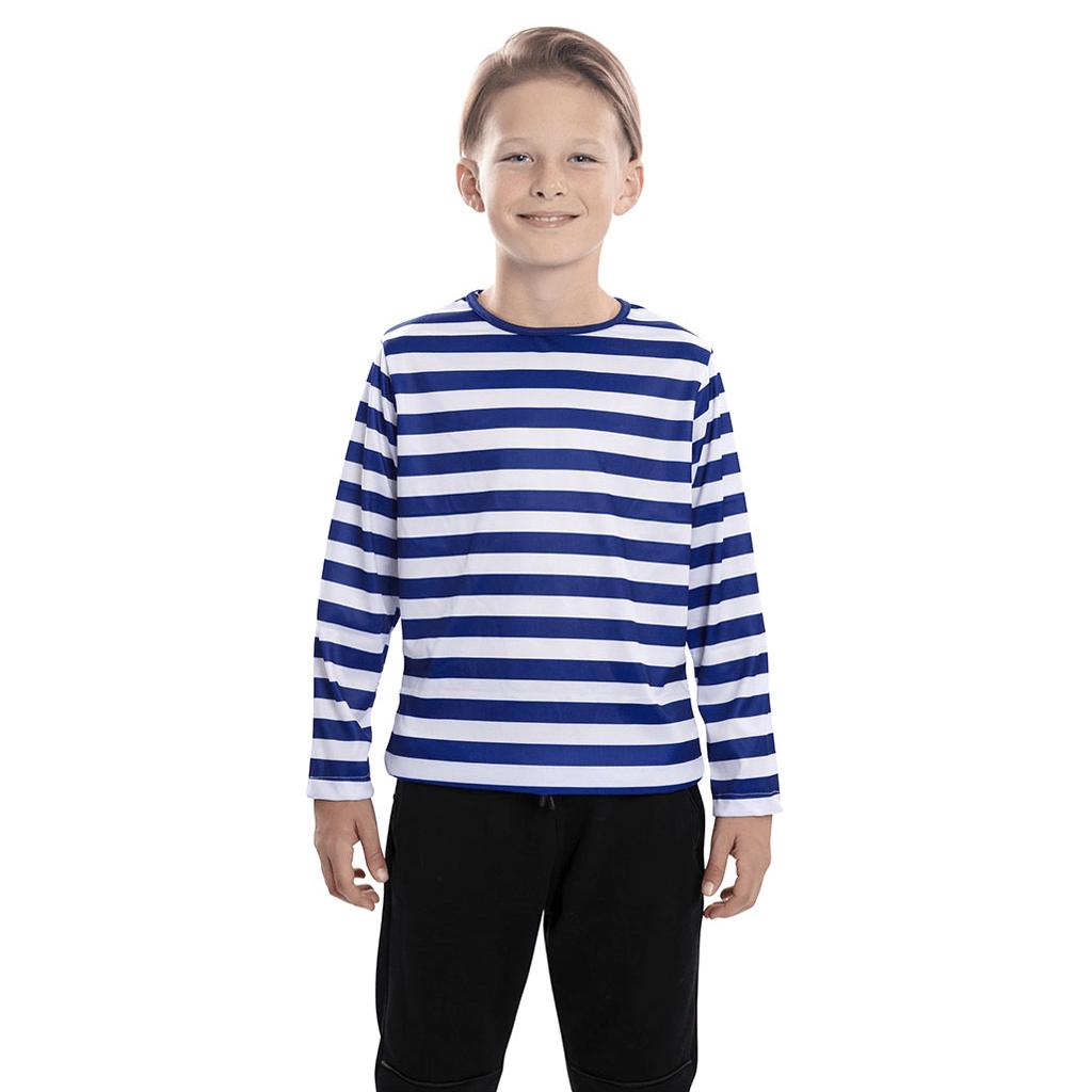 Camisola às riscas azuis e brancas, Criança