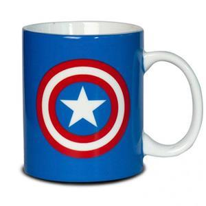 Caneca Capitão América Marvel em Cerâmica