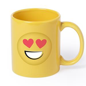 Caneca Emoji com Corações