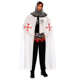 Capa Branca Medieval Templário, Adulto