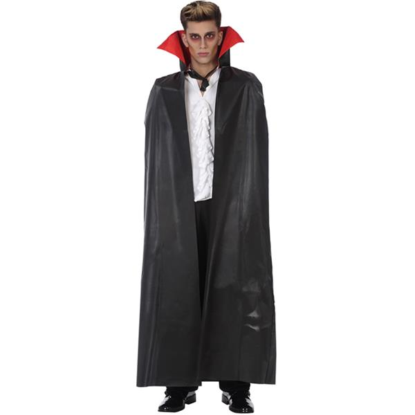 Capa Vampiro Preta com Gola, 140 cm