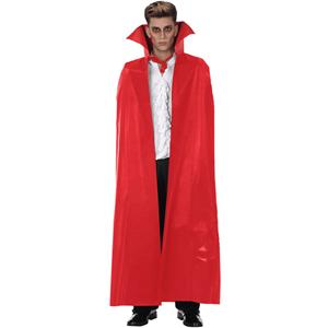 Capa Vampiro Vermelha com Gola, 140 cm